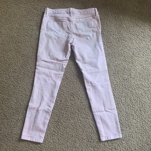 Peach mid rise crop jeggings